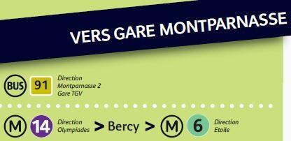 Gare De Lyon Vers Gare Montparnasse Paris