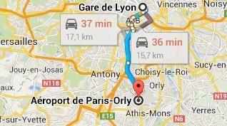 Gare De Lyon Vers Aeroport D Orly